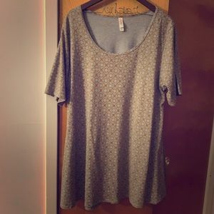 Lularoe NWOT grey and gold patterned Perfect T